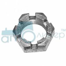 Гайка оси продольных тяг навески (М27х1,5) (корончатая) МТЗ-80-1221 (пр-во МТЗ)