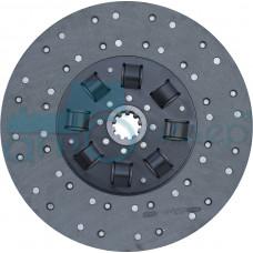 Диск ведомый муфты сцепления на а/м МАЗ для двигателя ЯМЗ-238 с асбестовой накладкой