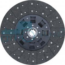 Диск ведомый муфты сцепления на а/м МАЗ с двигателем ЯМЗ-238 с безасбестовой накладкой